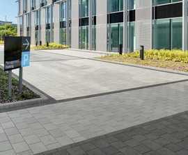 Modal Paving - smooth concrete flag paving