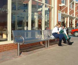 Stainless steel street furniture, Morrisons supermarkets