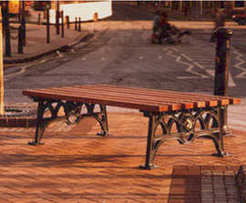 ASF 501 traditional cast iron and timber double bench