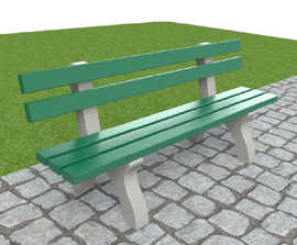 ASF 910RP recycled plastic bench seat