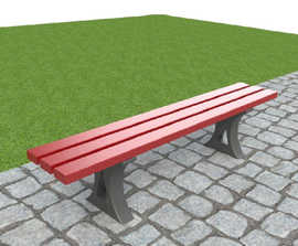 ASF 911RP recycled plastic bench