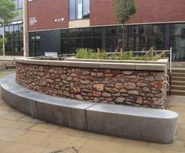 ASF Modernist granite seat