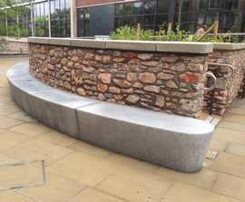 Modernist granite bench, Exeter Library