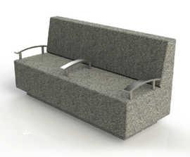 ASF Cubist granite bench seat
