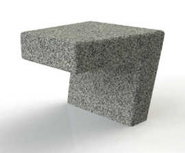 ASF Modernist features granite bench