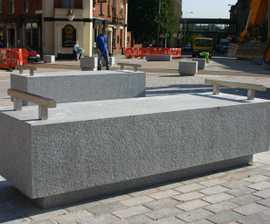ASF Cubist granite bench