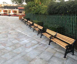 ASF 502 - cast iron and timber double seats