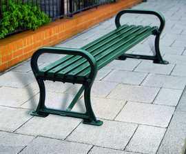 Avenue cast iron bench