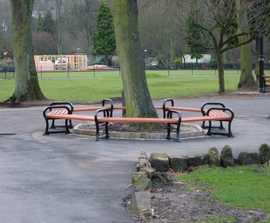 Avenue hexagonal tree bench