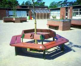 Beaufort hexagonal tree seat