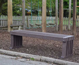 Marden heavy-duty recycled plastic bench