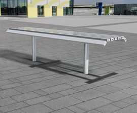 open spaces Drayton - contemporary metal bench