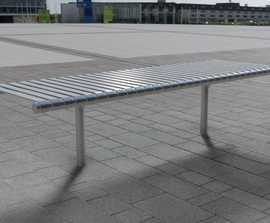 open spaces Rockingham - contemporary metal bench