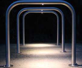 VELOPA Illuminated Sheffield - LED cycle stand, 2 bikes
