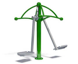 Air Skier outdoor fitness and workout station