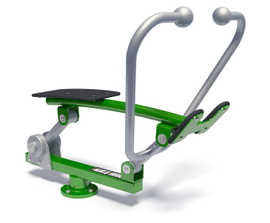 Outdoor rower - full-body fitness workout station