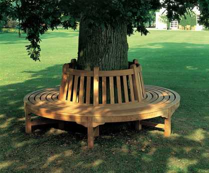 Glenham natural teak circular tree seat (1GLSC)