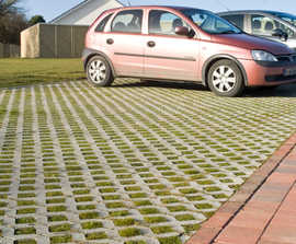 Turfstone ground reinforcement grass paving system