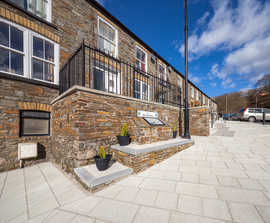 Tobermore Assist Merthyr Tydfil Council with Paving
