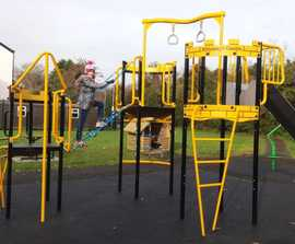 New multiplay equipment for refurbished play area