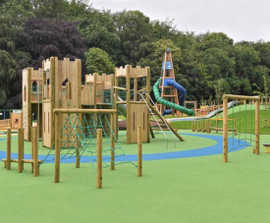 Castle-themed inclusive playground for Mo Mowlam Park