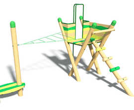 Forest Range Delamere climbing frame with net