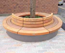Westbrook hardwood tree seat