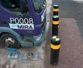 Resilience SSF100 super-shallow impact-tested bollard