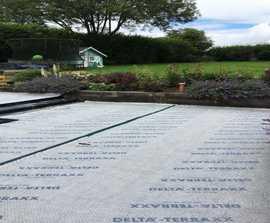 DELTA® Terraxx green roof drainage membrane