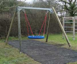 Swings and slide for parish council playground