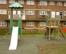 New play equipment for residential project