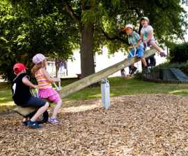 eibe four-seater beam seesaw (larch oiled or soft wood)