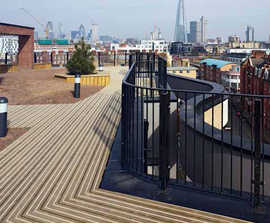 CitiDeck® anti-slip timber decking for roof deck