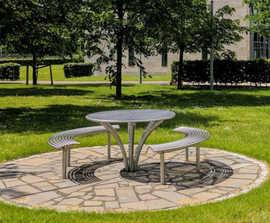 Baseline picnic table and bench set