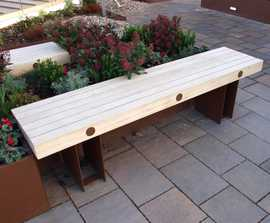 Exeter benches for rooftop garden in central London