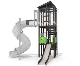 Skyline Tower - tall playground tower with slides