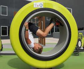 Spinning Machine - surface mounted playground spinner