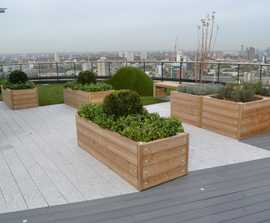 Planters for green roof gardens