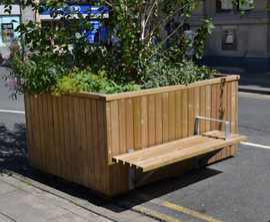 Bexley planter bench