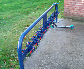 Double Sided Scooter Rack