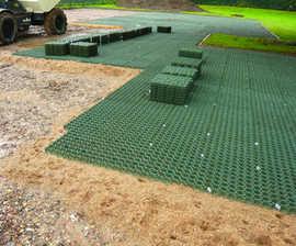 BODPAVE 40 grass-filled porous pavers, SIEMENS car park