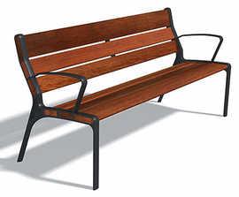 DAE Escofet Street Furniture - Tao bench