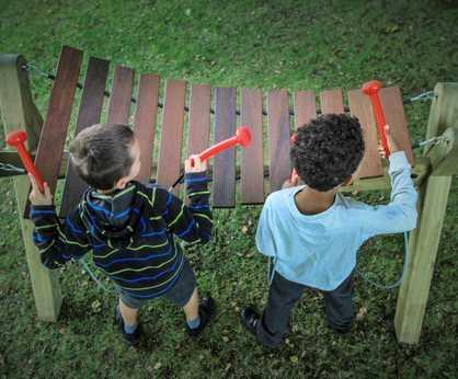 Akadinda - large outdoor xylophone