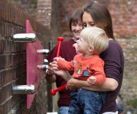Wall-mounted Marimba outdoor musical instrument