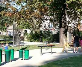Musical playground for old city park