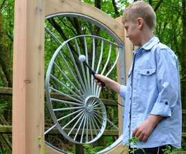 Spiral Scraper outdoor musical instrument