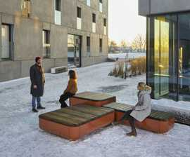 STONES modular timber and steel bench seating
