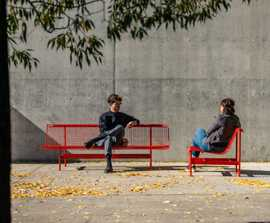 MUNCH steel seat and bench