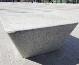 Charlie cast stone square bench