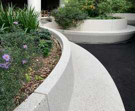 Paris 2 concrete bench